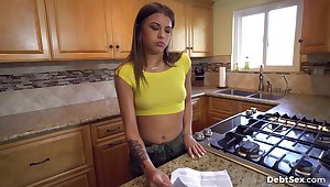 Jade owes her landlord money so she trades sex be advisable for free rent